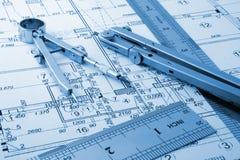 σχεδιάγραμμα αρχιτεκτονικής Στοκ Εικόνες