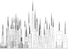 Σχεδιάγραμμα αρχιτεκτόνων έννοιας κτηρίων Στοκ Εικόνα