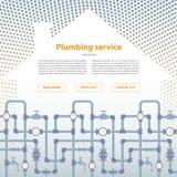 Σχεδιάγραμμα σελίδων για τον ιστοχώρο υπηρεσιών υδραυλικών Στοκ φωτογραφία με δικαίωμα ελεύθερης χρήσης