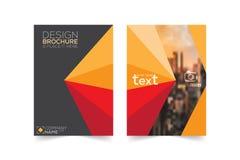 Σχεδιάγραμμα, φυλλάδιο, πρότυπο, flayer, περιοδικό, σχέδιο κάλυψης για το α Στοκ Εικόνες