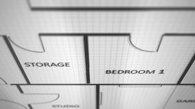 Σχεδιάγραμμα ψηφιακών υπολογιστών της οικοδόμησης των αρχιτεκτονικών σχεδίων - V4 διανυσματική απεικόνιση