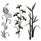 σχεδιάστε τη floral ιαπωνική σειρά απεικόνιση αποθεμάτων