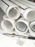 σχεδιαγράμματα αρχιτεκ&tau Στοκ φωτογραφίες με δικαίωμα ελεύθερης χρήσης