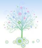σχεδιασμένο σύγχρονο δέντρο Στοκ Εικόνες