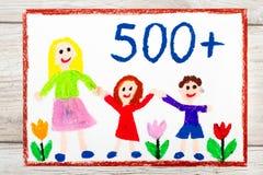 Σχεδιασμός: Κοινωνική πολιτική στην Πολωνία - κοινωνικό πρόγραμμα για να υποστηριχθούν οι οικογένειες απεικόνιση αποθεμάτων