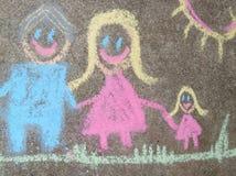 Σχεδιασμός παιδιών της οικογένειας Στοκ Εικόνα