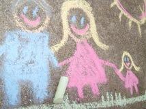 Σχεδιασμός παιδιών της οικογένειας Στοκ φωτογραφία με δικαίωμα ελεύθερης χρήσης
