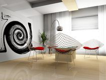 σχεδιασμός του σύγχρονου δωματίου Στοκ εικόνα με δικαίωμα ελεύθερης χρήσης