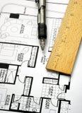 σχεδιασμός του floorplan κυβε&rh Στοκ φωτογραφία με δικαίωμα ελεύθερης χρήσης