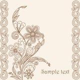 σχεδιασμός του floral προτύπο Στοκ Εικόνες