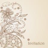 σχεδιασμός του floral προτύπο Στοκ Φωτογραφία