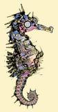 σχεδιασμός seahorse τυποποιημέ&nu διανυσματική απεικόνιση