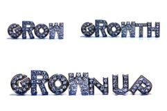 Σχετικές με την ΑΥΞΗΣΗ λέξεις στο άσπρο υπόβαθρο στοκ φωτογραφία με δικαίωμα ελεύθερης χρήσης