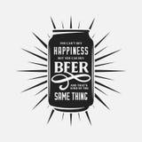 Σχετικό με την μπύρα απόσπασμα τυπογραφίας Διανυσματική εκλεκτής ποιότητας απεικόνιση Στοκ φωτογραφία με δικαίωμα ελεύθερης χρήσης