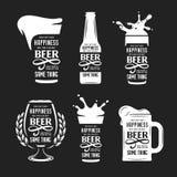 Σχετικό με την μπύρα σύνολο αποσπάσματος τυπογραφίας Διανυσματική εκλεκτής ποιότητας απεικόνιση διανυσματική απεικόνιση