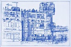 Σχεδιάγραμμα Α σωληνώσεων στοκ φωτογραφία με δικαίωμα ελεύθερης χρήσης