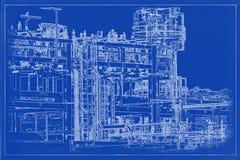 Σχεδιάγραμμα Β σωληνώσεων στοκ φωτογραφίες