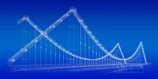 Σχεδιάγραμμα γεφυρών Στοκ Εικόνες