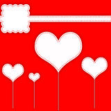 Σχεδιάγραμμα λευκώματος αποκομμάτων καρδιών Στοκ Εικόνες
