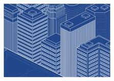 Σχεδιάγραμμα οικοδόμησης πόλεων Στοκ εικόνες με δικαίωμα ελεύθερης χρήσης