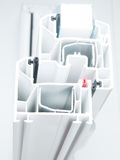 Σχεδιάγραμμα παραθύρων PVC Στοκ φωτογραφίες με δικαίωμα ελεύθερης χρήσης
