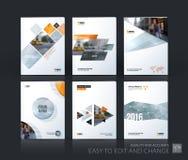 Σχεδιάγραμμα προτύπων φυλλάδιων, ετήσια έκθεση σχεδίου κάλυψης, περιοδικό, στοκ εικόνες με δικαίωμα ελεύθερης χρήσης