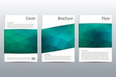 Σχεδιάγραμμα προτύπων φυλλάδιων, ιπτάμενο, κάλυψη, ετήσια έκθεση, περιοδικό A4 στο μέγεθος Τριγωνική μορφή αφηρημένος γεωμετρικός Στοκ εικόνες με δικαίωμα ελεύθερης χρήσης