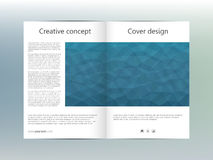 Σχεδιάγραμμα προτύπων φυλλάδιων, ιπτάμενο, κάλυψη, ετήσια έκθεση, περιοδικό A4 στο μέγεθος Τριγωνική μορφή αφηρημένος γεωμετρικός Στοκ εικόνα με δικαίωμα ελεύθερης χρήσης