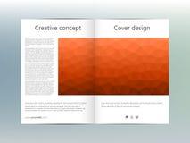 Σχεδιάγραμμα προτύπων φυλλάδιων, ιπτάμενο, κάλυψη, ετήσια έκθεση, περιοδικό A4 στο μέγεθος Τριγωνική μορφή αφηρημένος γεωμετρικός Στοκ Εικόνες