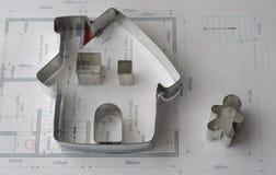 Σχεδιάγραμμα σπιτιών Στοκ φωτογραφίες με δικαίωμα ελεύθερης χρήσης