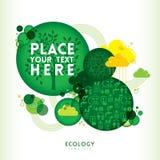 Σχεδιάγραμμα σχεδίου Eco μορφής κύκλων Στοκ φωτογραφία με δικαίωμα ελεύθερης χρήσης