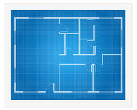 Σχεδιάγραμμα σχεδίων σπιτιών Στοκ Φωτογραφία
