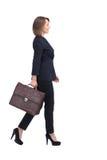 Σχεδιάγραμμα της περπατώντας επιχειρηματία με τη βαλίτσα, που απομονώνεται στο μόριο Στοκ φωτογραφίες με δικαίωμα ελεύθερης χρήσης