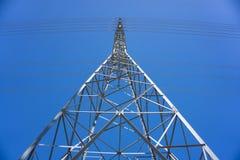 Σχεδιάγραμμα του ηλεκτρικού πύργου Στοκ Εικόνες