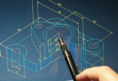 Σχεδιάγραμμα CAD στοκ εικόνες με δικαίωμα ελεύθερης χρήσης