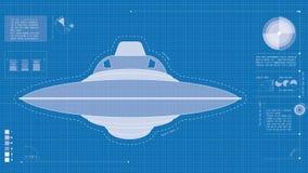 Σχεδιάγραμμα UFO Στοκ Εικόνα