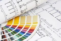 Σχεδιαγράμματα και οδηγός χρώματος Στοκ Φωτογραφία
