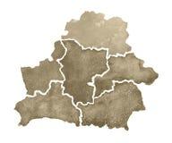 Σχεδιαζόμενος χέρι χάρτης watercolor της Λευκορωσίας χάρτης απεικόνισης της Λευκορωσίας στο άσπρο υπόβαθρο Στοκ φωτογραφίες με δικαίωμα ελεύθερης χρήσης