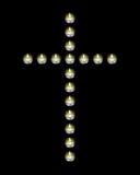 Σχεδιασμένα σταυρός κεριά Στοκ φωτογραφία με δικαίωμα ελεύθερης χρήσης