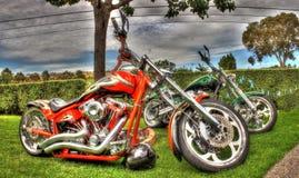 Σχεδιασμένες συνήθεια μοτοσικλέτες στοκ εικόνες με δικαίωμα ελεύθερης χρήσης