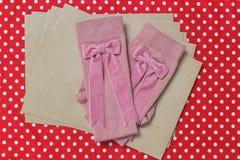 Σχεδιασμένες hadmade κάλτσες μαλλιού Στοκ φωτογραφίες με δικαίωμα ελεύθερης χρήσης