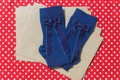 Σχεδιασμένες hadmade κάλτσες μαλλιού Στοκ φωτογραφία με δικαίωμα ελεύθερης χρήσης
