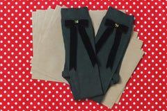 Σχεδιασμένες hadmade κάλτσες μαλλιού Στοκ Εικόνες