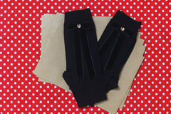 Σχεδιασμένες hadmade κάλτσες μαλλιού Στοκ Εικόνα