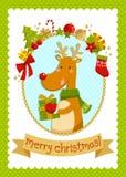 Σχεδιασμένη κάρτα Χριστουγέννων Στοκ Φωτογραφίες