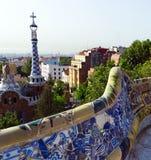 Σχεδιασμένος από το Antonio Gaudi στο πάρκο Guell, Βαρκελώνη Στοκ εικόνα με δικαίωμα ελεύθερης χρήσης