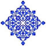 Σχεδιασμένος με τις σκιές της μπλε οθωμανικής σειράς σχεδίων μια Στοκ εικόνες με δικαίωμα ελεύθερης χρήσης