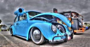 Σχεδιασμένος συνήθεια κάνθαρος της VW με το δοχείο ψύξης ελών στοκ φωτογραφία με δικαίωμα ελεύθερης χρήσης