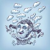Σχεδιασμός ενός άλματος στα σύννεφα Στοκ εικόνες με δικαίωμα ελεύθερης χρήσης