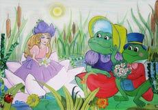 Σχεδιασμός ενός μικρού κοριτσιού από ένα παραμύθι Thumbelina Στοκ φωτογραφίες με δικαίωμα ελεύθερης χρήσης